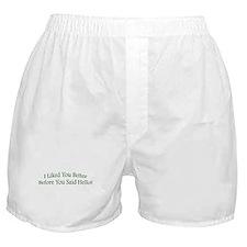 Cute Say hello Boxer Shorts