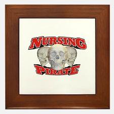Nursing Pirate Framed Tile
