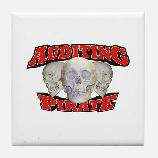 Auditing Pirate Tile Coaster