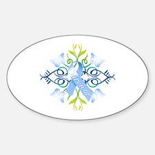 Blue Survivor Sticker (Oval)