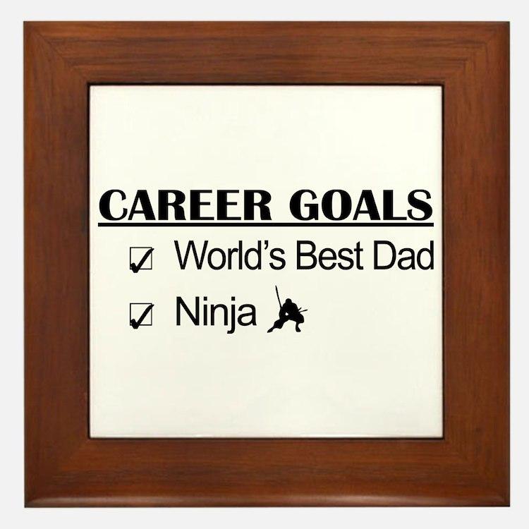 World's Best Dad - Ninja Goals Framed Tile