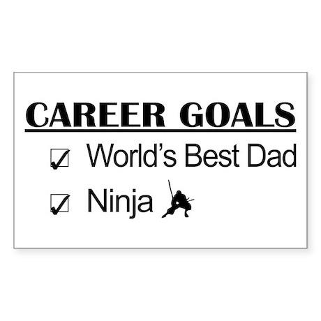 World's Best Dad - Ninja Goals Sticker (Rectangle)