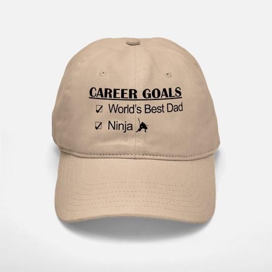 World's Best Dad - Ninja Goals Baseball Baseball Cap
