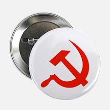 Red Hammer & Sickle Button
