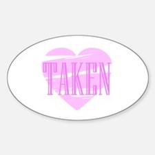 Taken Heart (PINK) Oval Decal