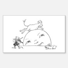 Cute The cow jumped over the moon Decal