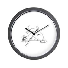 Cool Cat fiddle Wall Clock