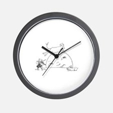 Cute Jump Wall Clock