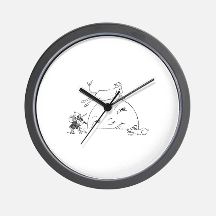 Cute Cow jumped over the moon Wall Clock