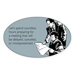 Countless Hours Sticker (Oval)