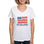 God Bless America With Bacon Women's V-Neck T-Shir