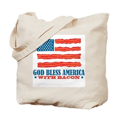 God Bless America With Bacon Tote Bag