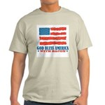 God Bless America With Bacon Light T-Shirt
