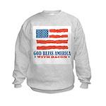 God Bless America With Bacon Kids Sweatshirt