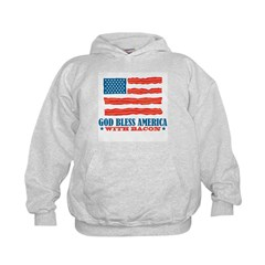 God Bless America With Bacon Kids Hoodie