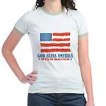 God Bless America With Bacon Jr. Ringer T-Shirt