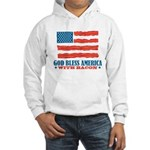 God Bless America With Bacon Hooded Sweatshirt