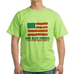 God Bless America With Bacon Green T-Shirt