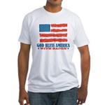 God Bless America With Bacon Fitted T-Shirt