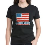 God Bless America With Bacon Women's Dark T-Shirt