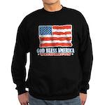 God Bless America With Bacon Sweatshirt (dark)