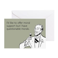 Questionable Morals Greeting Card