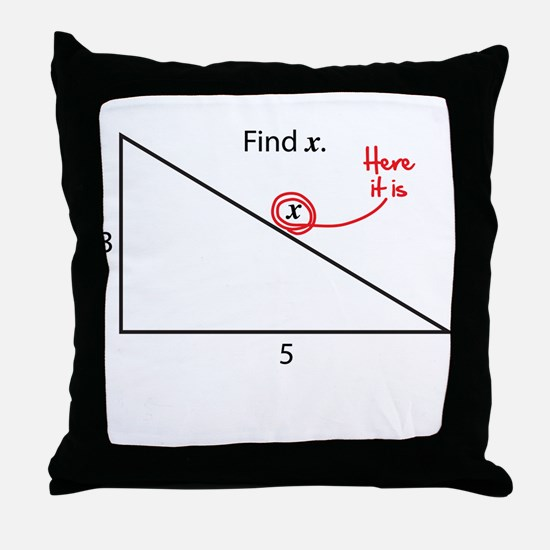 Find x Throw Pillow