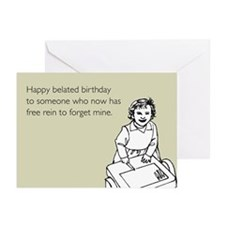 Happy Belated Birthday Greeting Cards (Pk of 10)