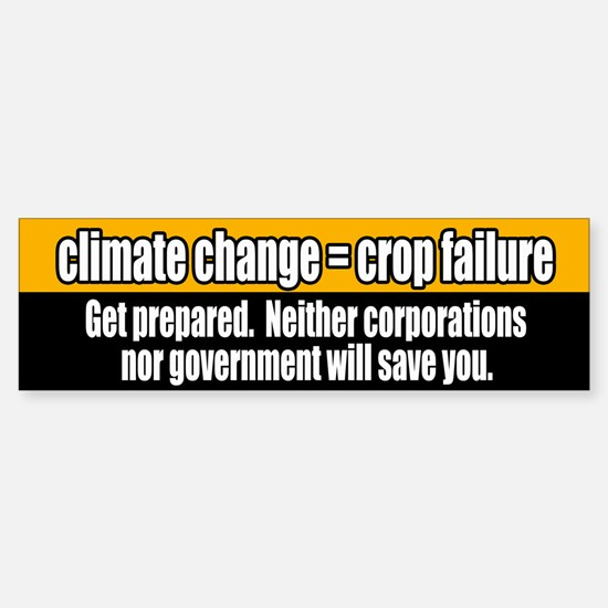 climate change food security bumper sticker