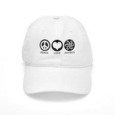 Peace Love Physics Baseball Cap