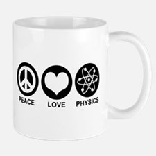 Peace Love Physics Mug