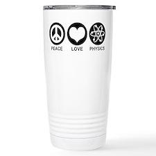 Peace Love Physics Travel Mug