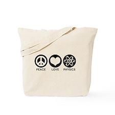 Peace Love Physics Tote Bag