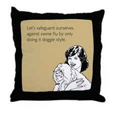 Doggie Style Throw Pillow