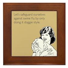 Doggie Style Framed Tile