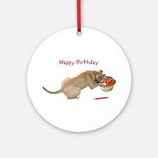 Birthday Dog Ornament (Round)