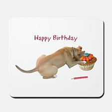 Birthday Dog Mousepad