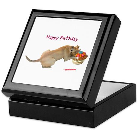 Birthday Dog Keepsake Box