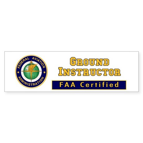 FAA Certified Ground Instructor Sticker (Bumper 10