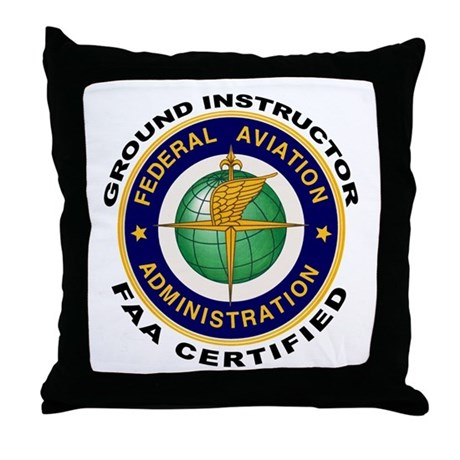 FAA Certified Ground Instructor Throw Pillow