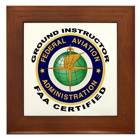 FAA Certified Ground Instructor Framed Tile