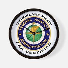 FAA Certified Gyroplane Pilot Wall Clock