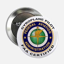 "FAA Certified Gyroplane Pilot 2.25"" Button"