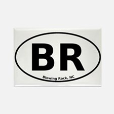 Blowing Rock, NC Euro Rectangle Magnet