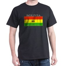 Bolivia Bolivian Flag Black T-Shirt