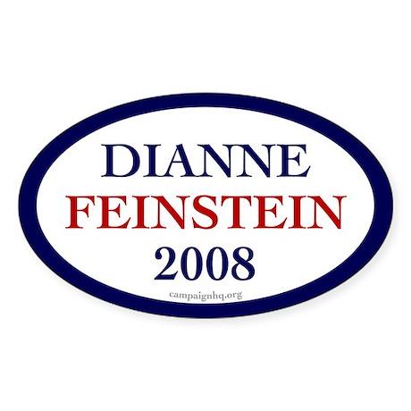 Dianne Feinstein 2008. Oval sticker