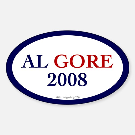 Al Gore 2008. Oval Decal