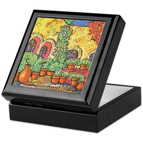 Spanish Patio Tile Treasure Box