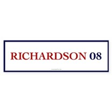 Richardson 08 Bumper Bumper Sticker