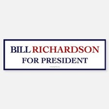 Bill Richardson for President Bumper Bumper Bumper Sticker